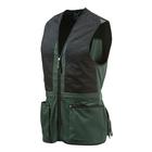Image of Beretta Trap Cotton Vest - Hunter Green & Black