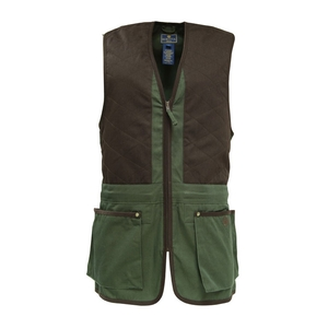 Image of Beretta Trap Cotton Vest - Black Forest / Coffee Bean