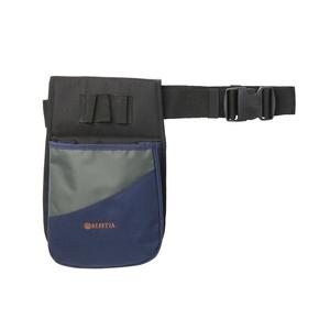 Image of Beretta Uniform Pro Cartridge Pouch - 2 Boxes - Blue, Grey & Orange