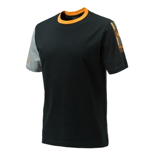 Image of Beretta Victory Corporate SS T-Shirt - Black & Orange