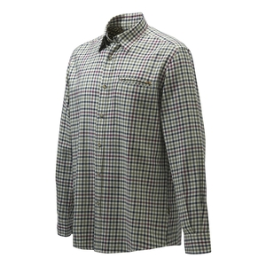 Image of Beretta Wood Plain Collar Shirt - Ecru Check