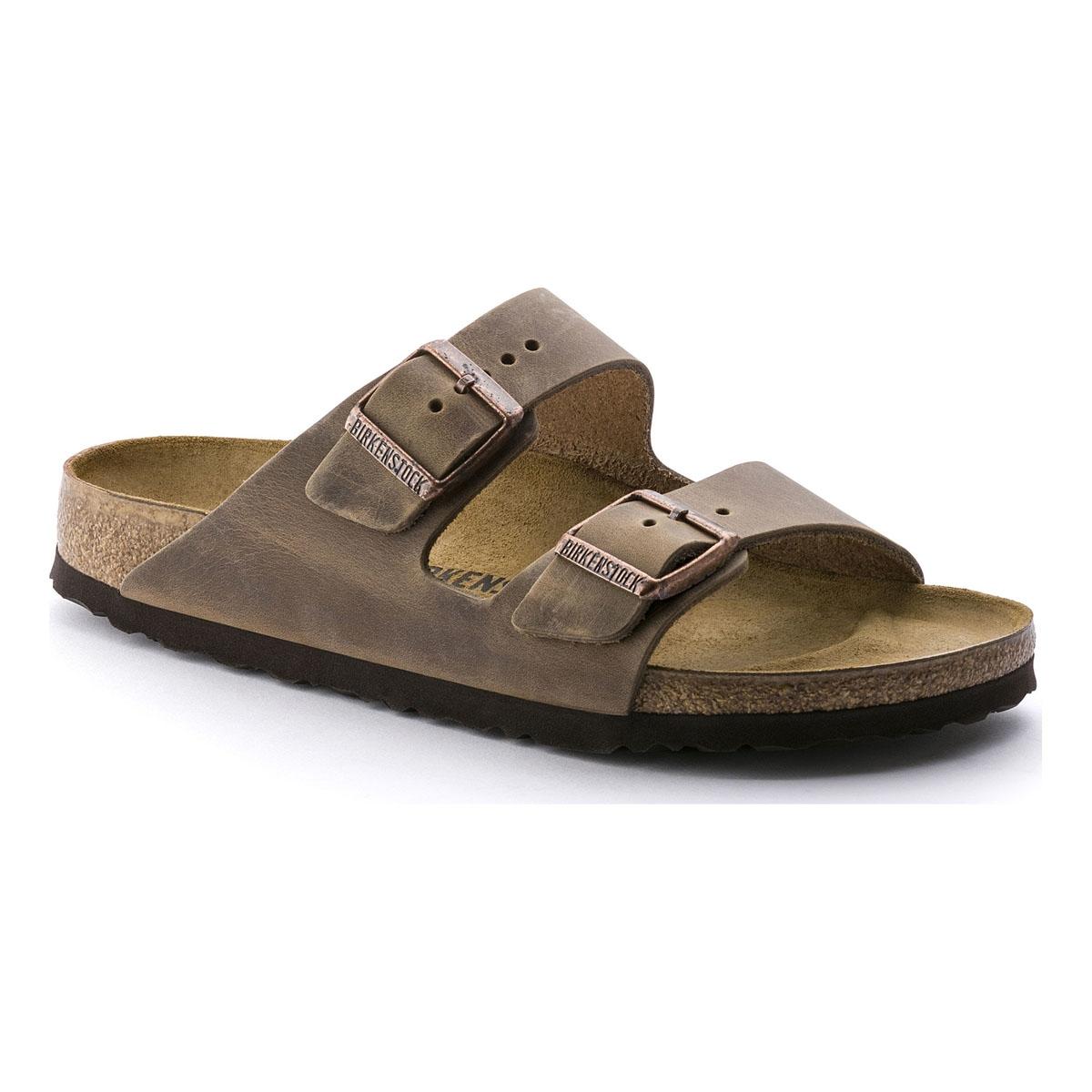 Image of Birkenstock Arizona Oiled Leather Sandals - Tabacco Brown 64b0f3294