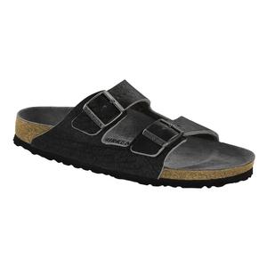 Image of Birkenstock Arizona Vintage Smooth Leather Sandals - Anthracite