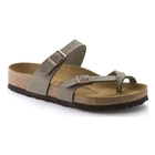 Image of Birkenstock Mayari Birko-Flor Synthetic Leather Sandals (Women's) - Stone