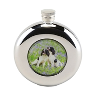Bisley 4.5oz Round Spaniels Hip Flask in Presentation Box