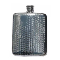 Bisley 6oz Hip Flask - Hammered Finish