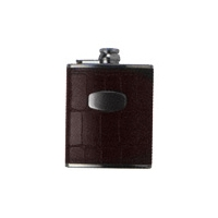 Bisley 6oz Brown Windsor Croc Hip Flask
