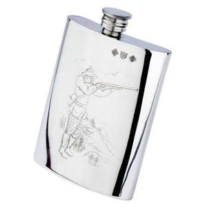 Image of Bisley 6oz Shooter Pewter Hip Flask