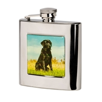 Bisley 6oz Square Labrador Hip Flask