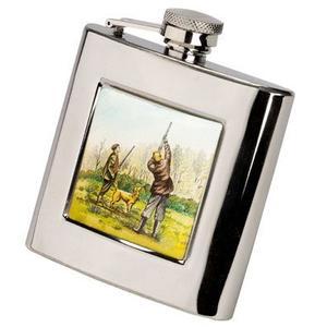 Image of Bisley 6oz Square Shooting Hip Flask