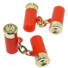 Image of Bisley Cartridge Cufflinks - Red