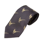 Image of Bisley Pheasants Silk Tie - Navy