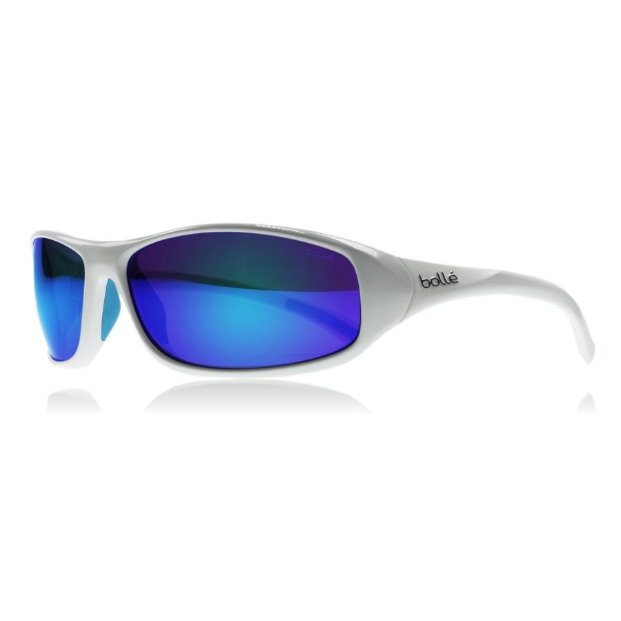 c50c250bb1 Image of Bolle Crest Marine Sunglasses - Shiny White Frame - Pol Offshore  Blue Oleo AR