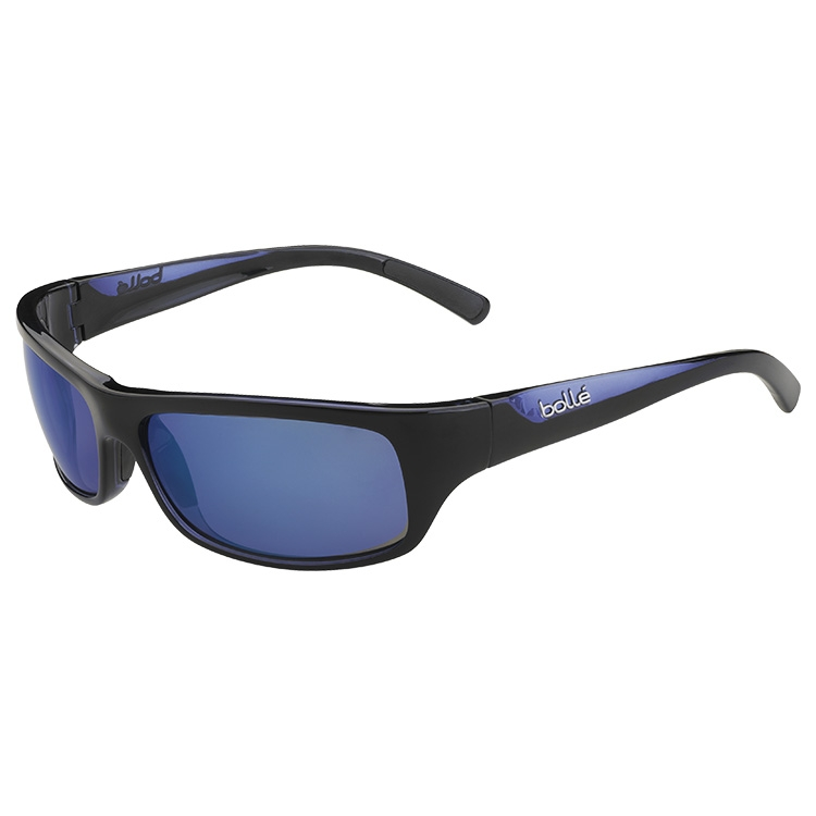 af551bc6300 Image of Bolle Fierce Marine Polarized Sunglasses - Black Blue Frame -  Polarized Offshore Blue