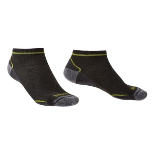 Image of Bridgedale HIKE Ultralight Coolmax Performance Ankle Sock (Men's) - Graphite/Lime