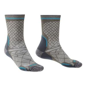 Image of Bridgedale HIKE Ultralight Coolmax Performance Sock (Men's) - Grey/Dark Grey