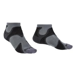 Image of Bridgedale Trail Sport Ultra Light T2 Ankle Merino Cool Comfort Sock (Men's) - Gunmetal/Black