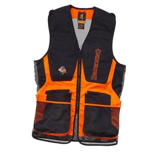 Image of Browning Claybuster Shooting Vest - Black / Orange
