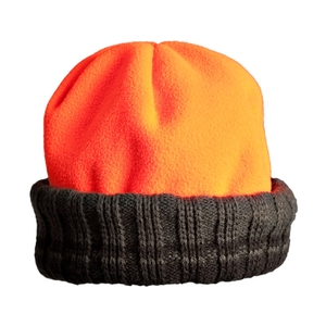 Image of Browning Polarfleece Bonnet - Green/Orange