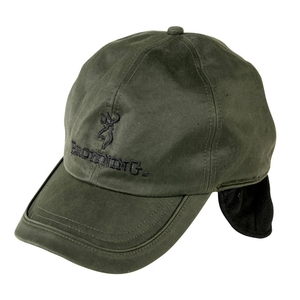 Image of Browning Winter Wax Fleece Cap with Ear Flaps - Green