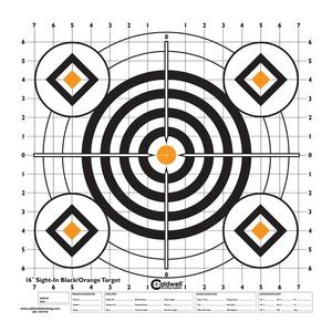 Image of Caldwell Sight In Target - 16 Inch - Black/Orange - 10pk