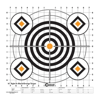 Caldwell Sight In Target - 16 Inch - Black/Orange - 10pk