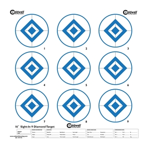 Image of Caldwell Sight In Target - 9 Inch Diamond Hi Contrast - Blue - 10pk