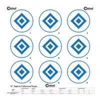 Caldwell Sight In Target - 9 Inch Diamond Hi Contrast - Blue - 10pk