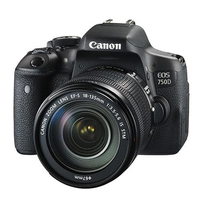Canon EOS 750D SLR Camera Black + 18-135mm IS STM Lens
