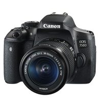 Canon EOS 750D SLR Camera Black + 18-55mm IS STM Lens