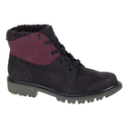 Image of CAT Fret Fur Waterproof Ladies Casual Boots (Women's) - Black/Wine