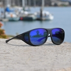 Image of Cocoons Pilot Polarized Sunglasses - Black Frame / Blue Mirror Lens