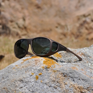 Image of Cocoons Pilot Polarized Sunglasses - Sand Frame / Grey Lens