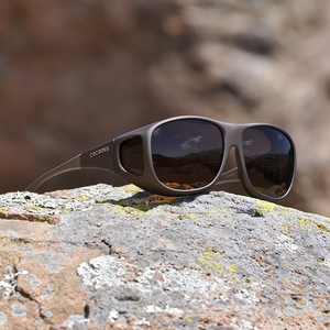 Image of Cocoons Pilot Polarized Sunglasses - Sand Frame / Amber Lens