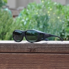 Image of Cocoons Slim Line Polarized Sunglasses - Black Frame / Grey Lens