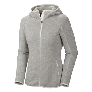 Image of Columbia Altitude Aspect Hooded Fleece Jacket - Womens - Sea Salt / Heather