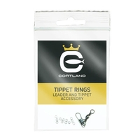 Cortland Competition Tippet Rings 10 Pack - Nickle Black