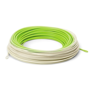 Image of Cortland Precision Trout Boss Dyna-Tip HTX Floating Fly Line - Light Grey / Chartreuse
