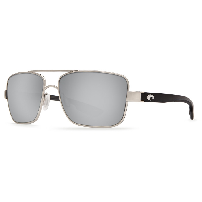 6a8897a24dd68 Image of Costa Del Mar North Turn Polarized Sunglasses - Palladium Frame    Silver Mirror 580P