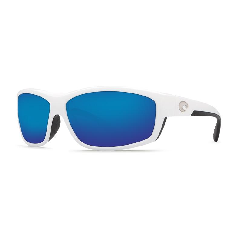 4f712faaf6be Image of Costa Del Mar Saltbreak Sunglasses - White Frame / Blue Mirror  580G Lenses