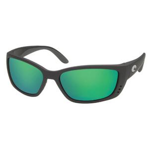 Image of Costa Del Mar Fisch Polarised Sunglasses - Black Frame / Green Mirror 580G Lenses