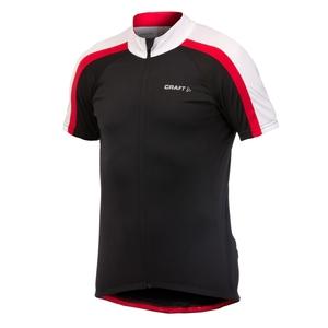 Image of Craft AB Jersey (Men's) - Black/White/Black/Red