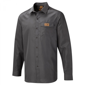 Image of Craghoppers Bear Grylls Long Sleeved Shirt - Black Pepper / Black