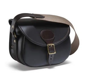 Image of Croots Byland Leather Cartridge Bag - Dark Havana