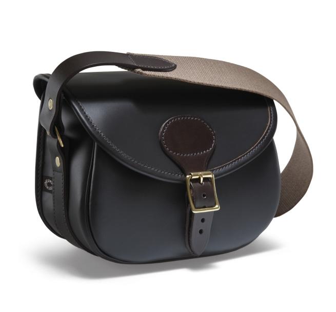 Image of Croots Byland Leather Cartridge Bag - Dark Havana