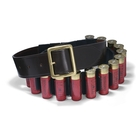 Image of Croots Malton Bridle Leather Quick Release Cartridge Belt - 12g - Dark Havana