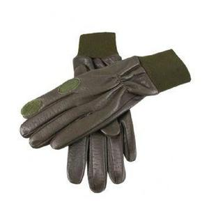 Image of Dents Malvern Fleece Lined Leather Shooting Gloves - Olive