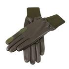 Image of Dents Royale Aqua 3000 Silk Lined Shooting Gloves - L/H Trigger - Olive