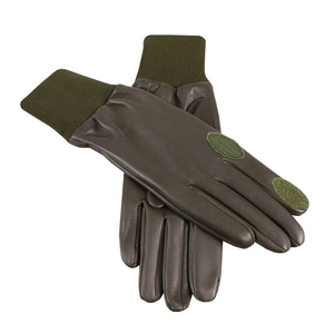 Image of Dents Royale Aqua 3000 Silk Lined Shooting Gloves - R/H Trigger - Olive