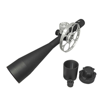 Falcon Optics X50 Target 10-50x60 SFP Rifle Scope - Field Target Configuration with Harris Engineering Competition Kit